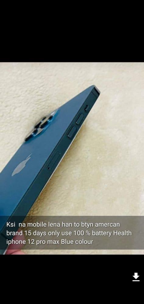 iphone 12 pro max blue american  brand