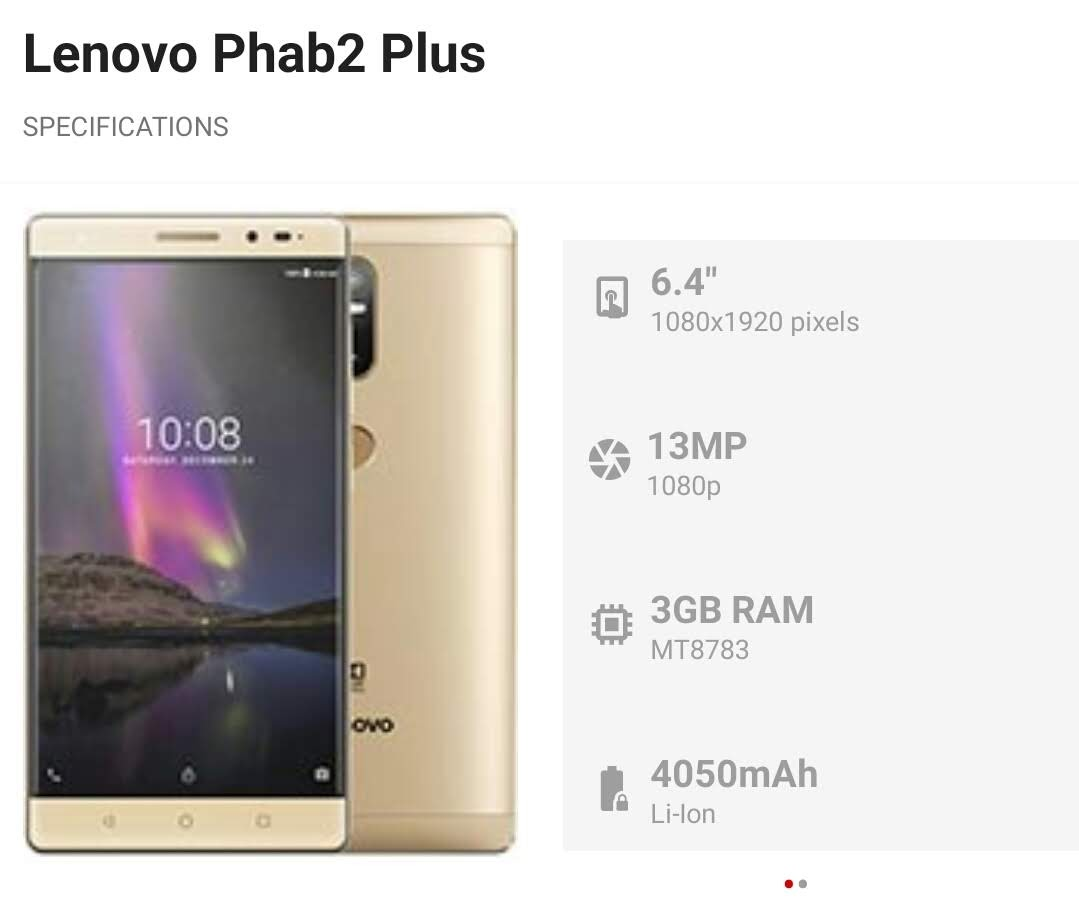 Lenovo Phab2 Plus for sale